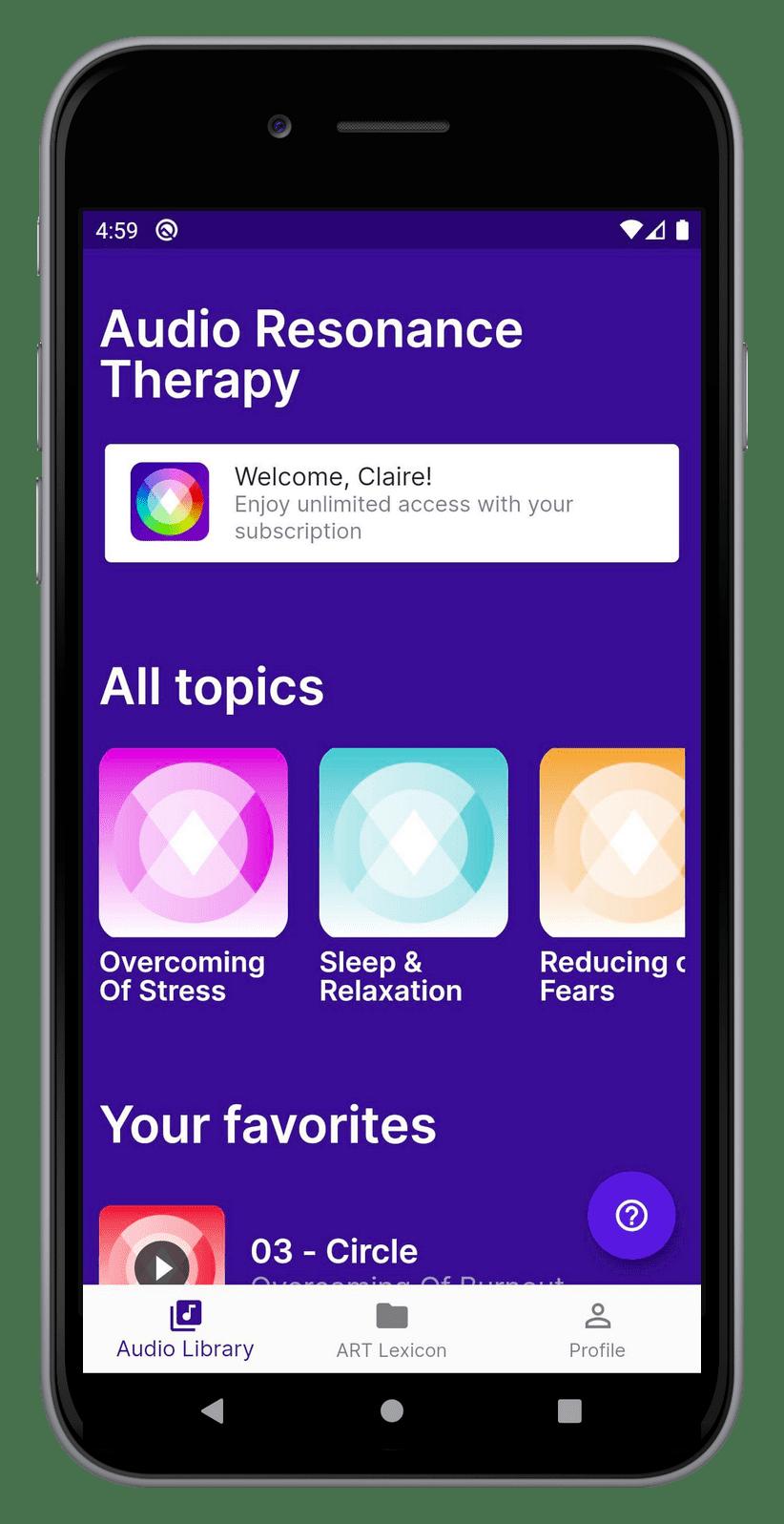 ART meditation app